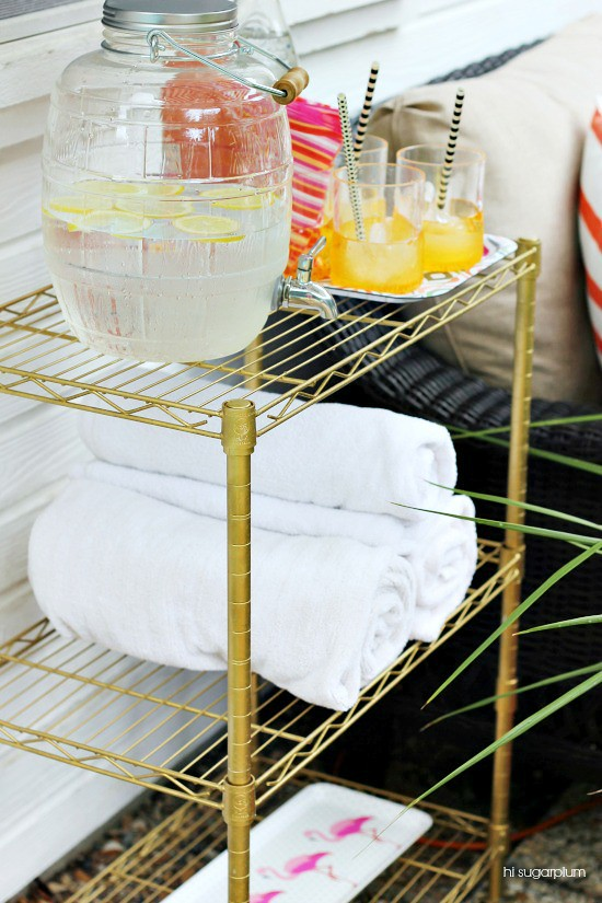 Hi Sugarplum Diy Outdoor Bar Cart