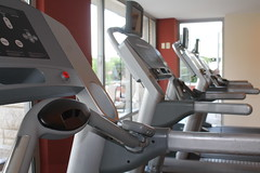 exercise machine, exercise equipment, room, treadmill, gym,