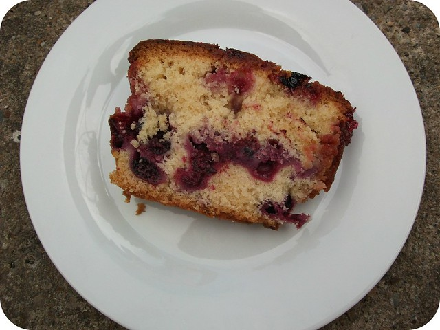 Blackcurrant Drizzle Cake Slice