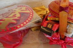 gift, red, gift basket,