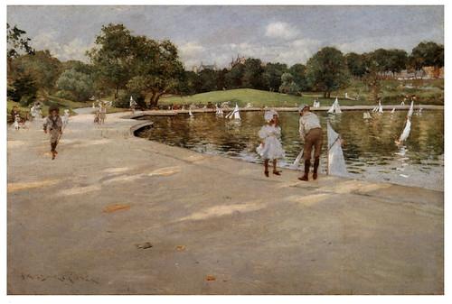 010 El lago de los yates en miniatura-1890- Pintura al oleo- William Merritt Chase