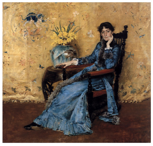 006 Portarretrato de Miss Dora Wheeler-1883- Pintura al oleo- William Merritt Chase