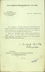 006. A bécsi hercegérsek meghívója a magyar kormány részére