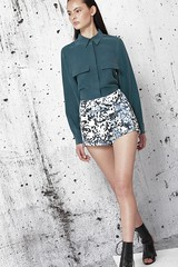 Print High Waisted Shorts