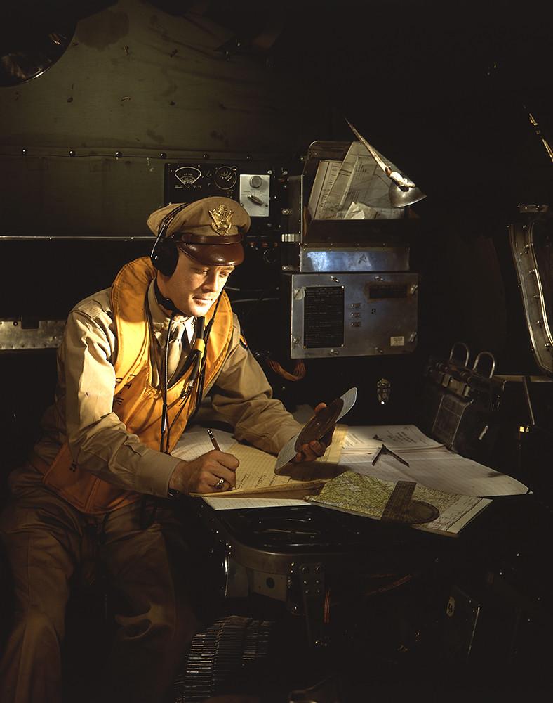 [U.S. Flight Navigator, Boeing B-17 Flying Fortress, World War II]