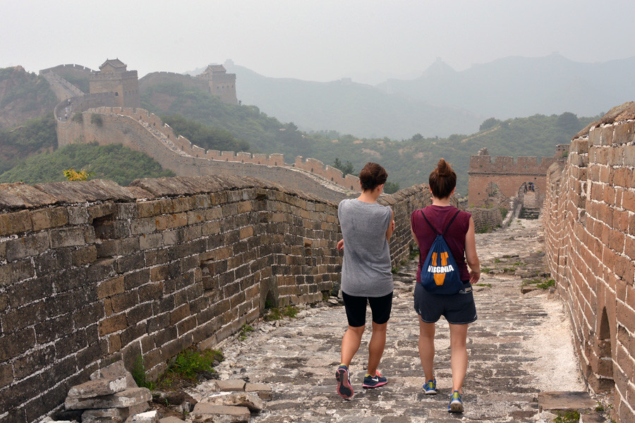 July 12, 2014 - Emily Whalen (CLAS 2010) and Abigail Whalen (Arch 2012) hiking on the Jinshanling section of the Great Wall of China. Submitted by alum Abigail Whalen.