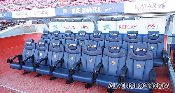 Qatar Airways seats for the players