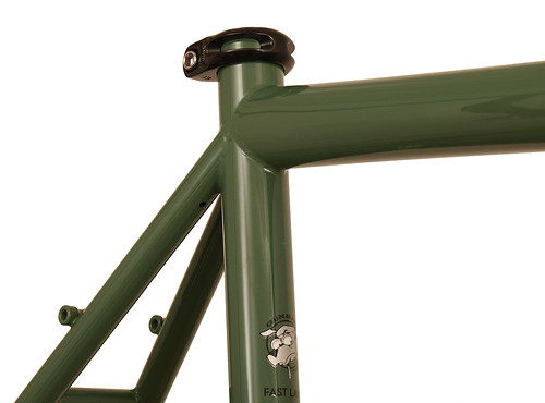 <p>Seatcluster detail on Gunnar Fastlane in Monetary Green, with the versatility for commuting, distance riding, touring, cruising about town and even cyclocross.</p>