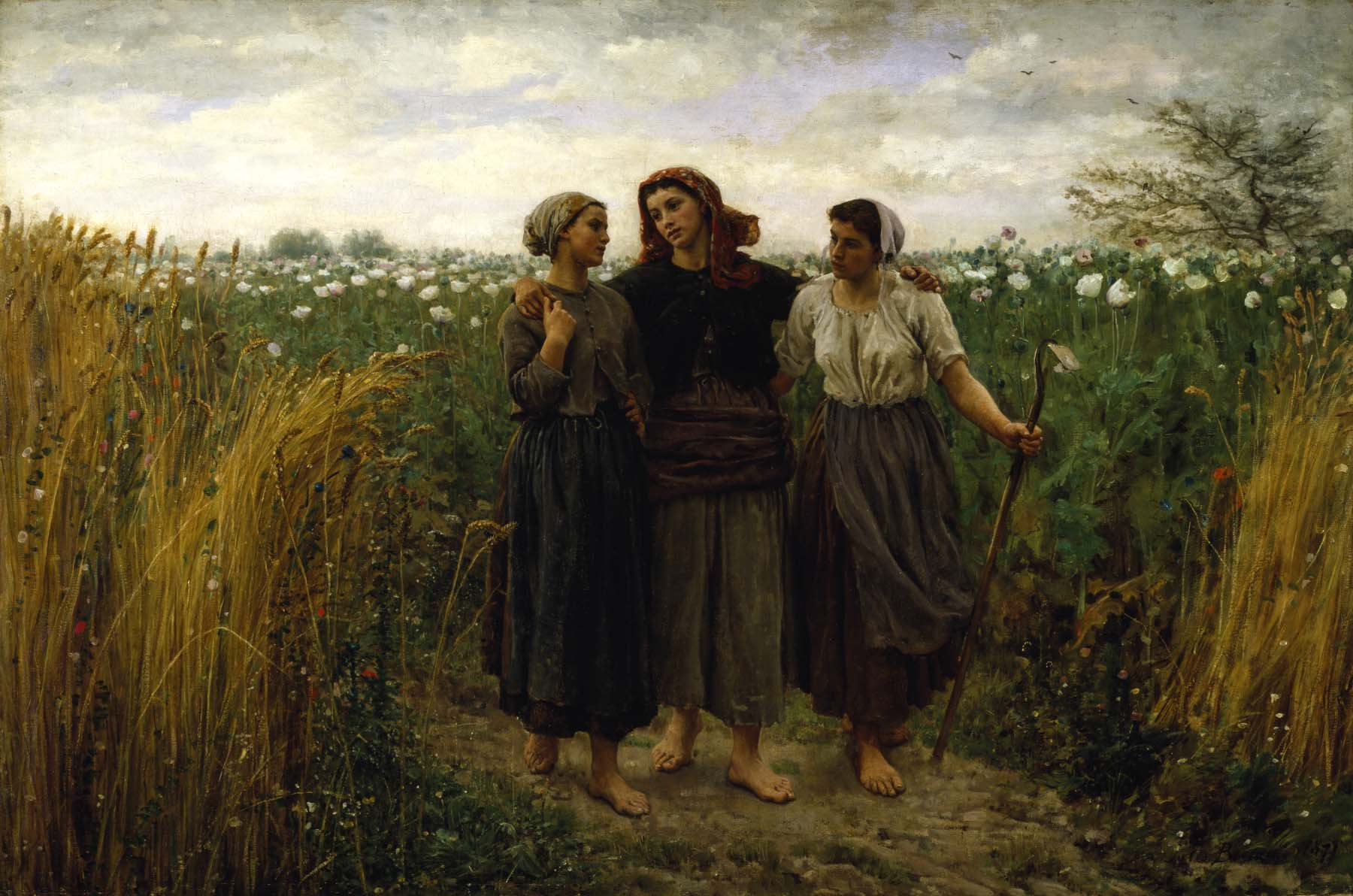 Jules Adolphe Aimé Louis Breton, Returning from the Fields, 1871