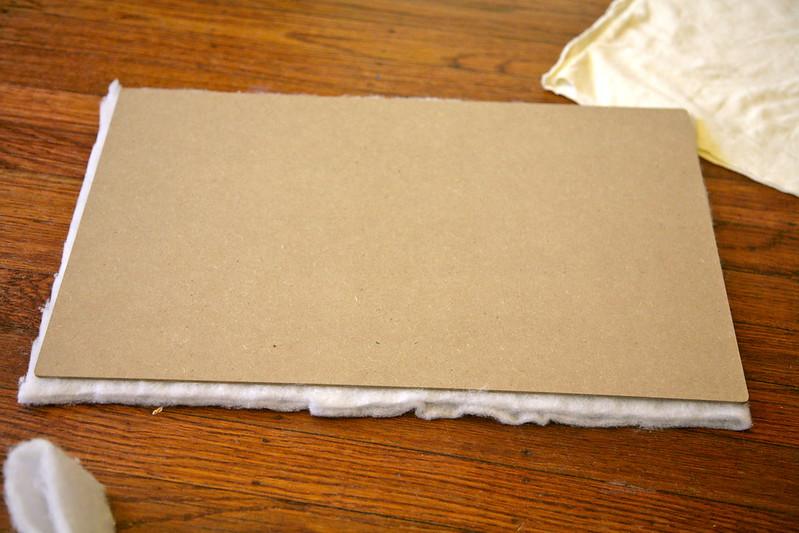 "Measuring batting for the ""mattress"""
