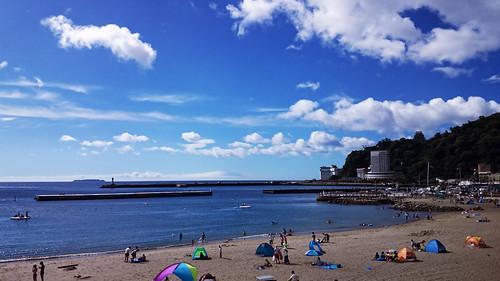 Atami Sun Beach on August 5, 2014
