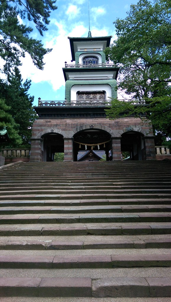 Main gate of Oyama Jinja