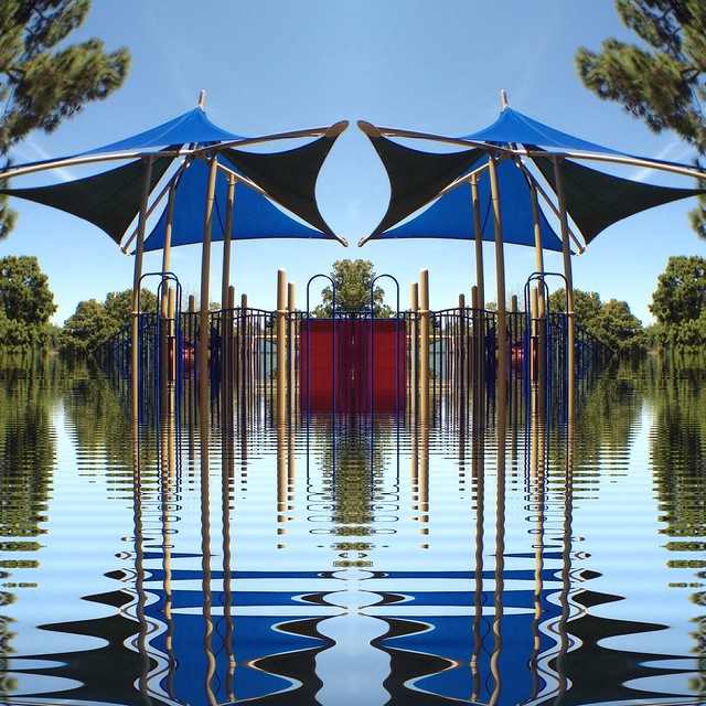 Mirrored Flooded Playground