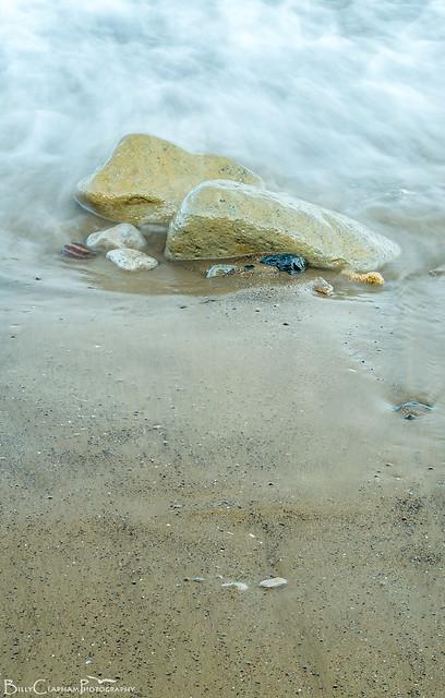 long exposure rocks sea blur