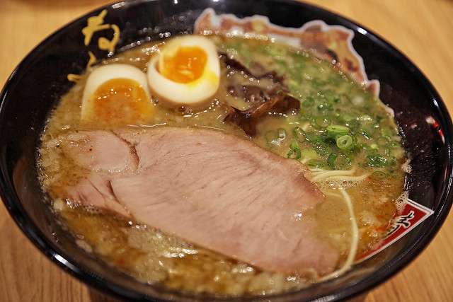 Tonkotsu Ramen NEBUTA: tonkotsu infused with Niboshi broth made from iwashi (sun-dried sardines)