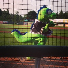Feldman's night out with the Lakemonsters! Bagel dogs would be a great ballpark addition...