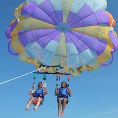 parachute, sports, parasailing, parachuting, windsports, extreme sport, water sport,