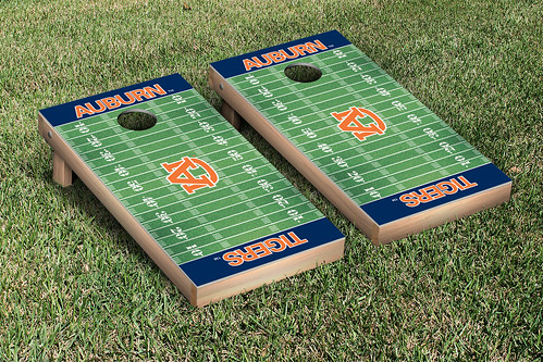 Auburn University Tigers Cornhole Game Set Football Field Version