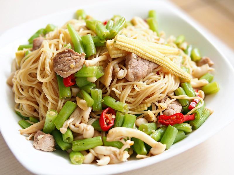 day065-午餐-時蔬清炒義大利麵