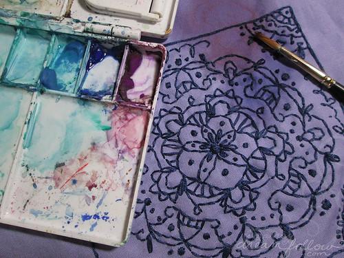 mandala fabric painting