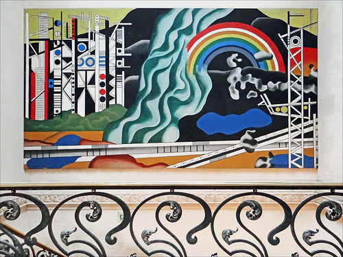 Oeuvre de Fernand Léger sur les murs du Palais de la Découverte à Paris