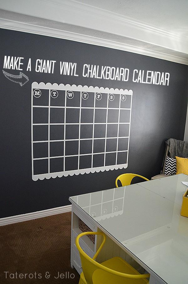 Giant Chalkboard Calendar