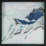 Libby Barbee; These Sweet Orogenies; 2013; Cut paper in shadowbox; 24x24 -