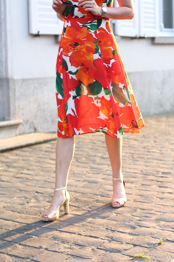 zara floral dress gold wonders peeptoes