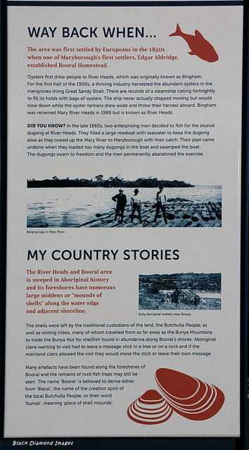 Butchulla Aboriginal & European History Interpretive Sign, River Heads Carpark, River Heads, Hervey Bay, SE Queensland