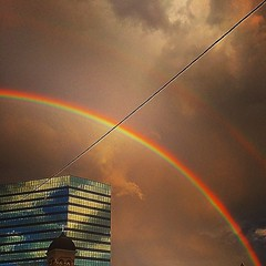 Double rainbow! #nofilter #adobelife #doublerainbow #rainbow #itmeansnothing #slc