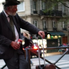 Trips of an Old Man with Black Hat Or Young Lady Optical Illusions ~ Boulevard Saint Michel ~ Paris ~ MjYj
