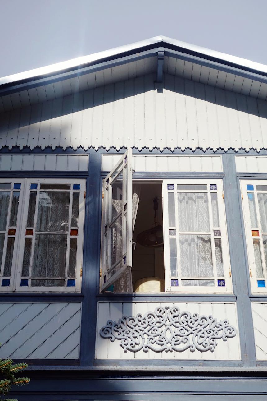 Jurmala Latvia wooden house window