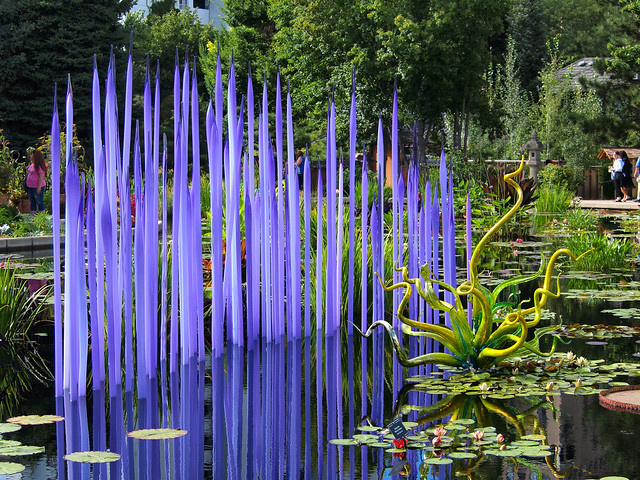 Monet Pool Fiori by Dale Chihuly at Denver Botanic Gardens