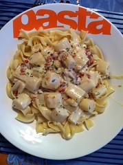 pappardelle, pasta, fettuccine, produce, food, dish, carbonara, cuisine,