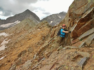 Clare Scrambling on Wilson to Gladstone Ridge
