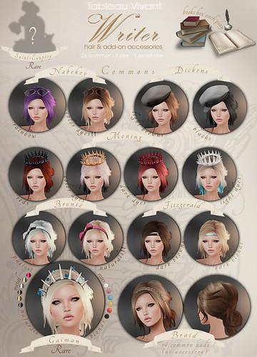 ~Tableau Vivant~ Writer Hair & Accessories - Key