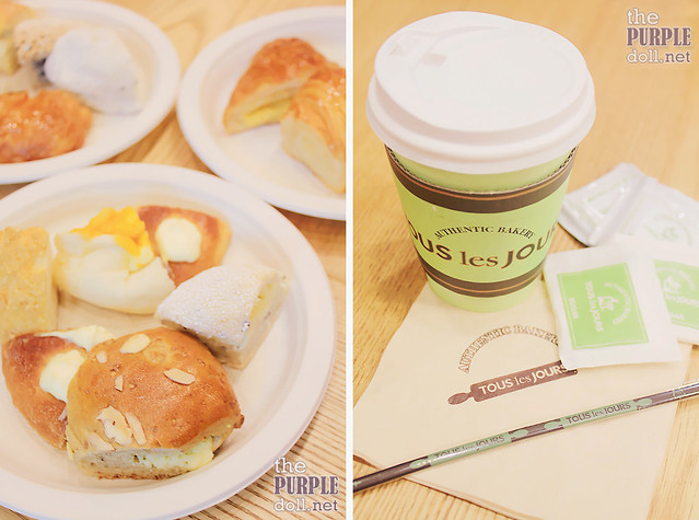 Coffee and Breads at Tous Les Jours Trinoma