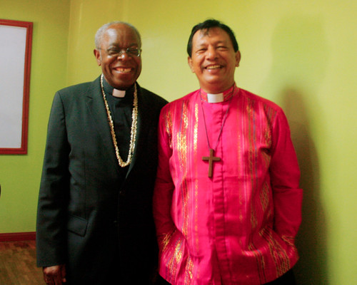 The Rev. Precious Omuku and Prime Bishop-elect, Rt Rev. Renato Abibico