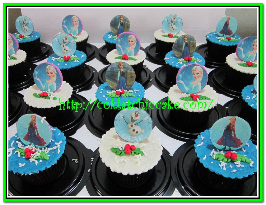Cupcake disney the frozen