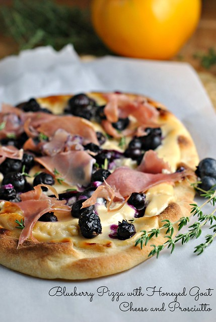 Blueberry Pizza with Honeyed Goat Cheese and Prosciutto 1
