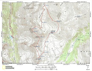 My Sawatch Sufferfest Topo Map