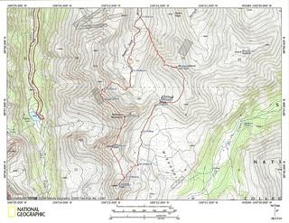 My Sawatch Sufferfest Topo Map