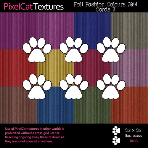 PixelCat Textures - Fall Fashion Colours 2014 - Cords II