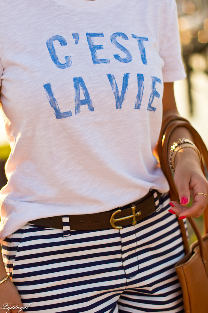 c'est la vie tee, striped shorts-2.jpg