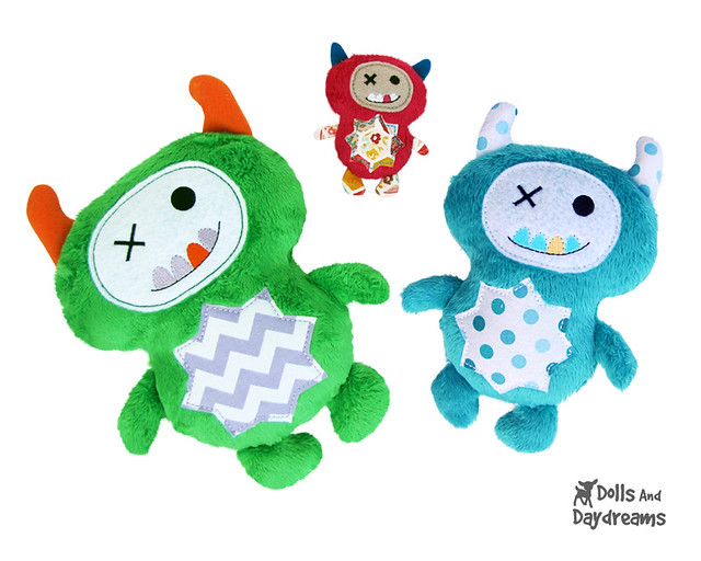 Monster Stuffies ITH Pattern