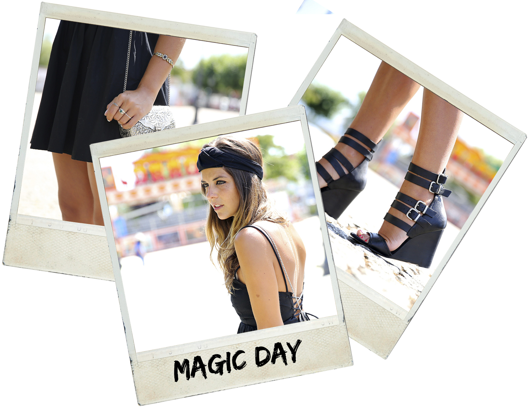 trendy_taste-look-outfit-street_style-blog-blogger-fashion_spain-moda_españa-maje-black_dress-vestido_negro-espalda_abierta-sandalias-silver_bag-bolso_plata-o_grove-galicia-turbante-turban-polaroid