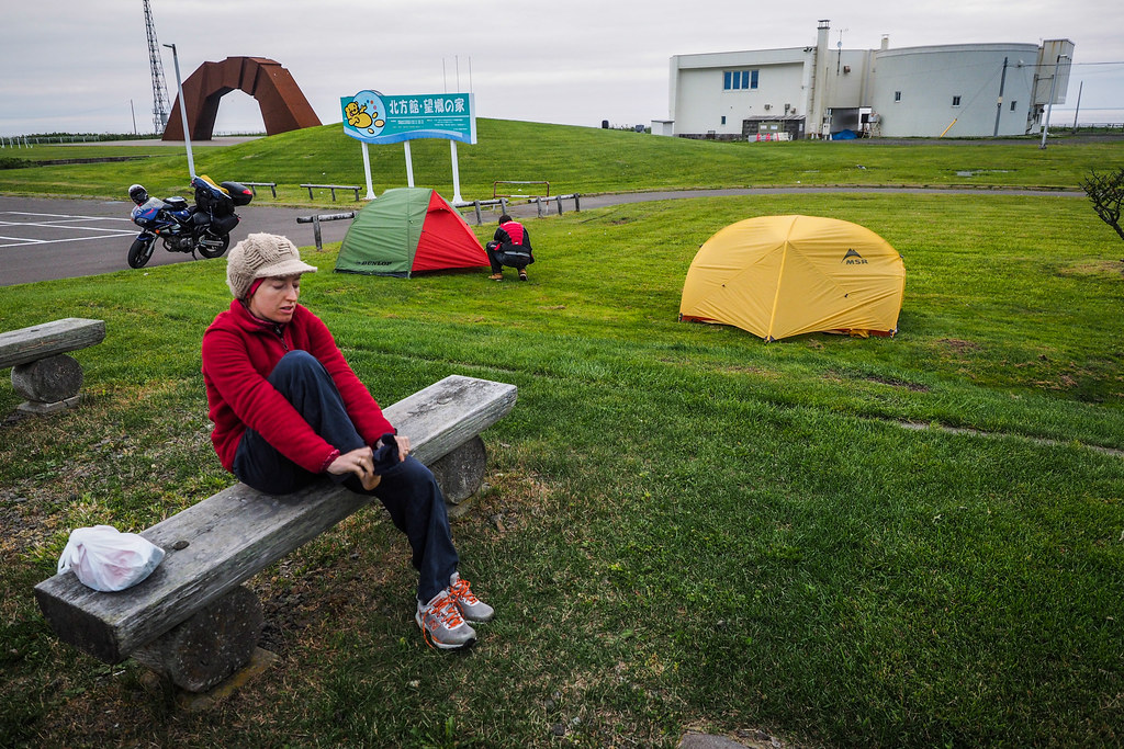 Free-camping at Nosappu Cape, Hokkaido, Japan