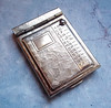 Vintage tiny purse-size brass address book