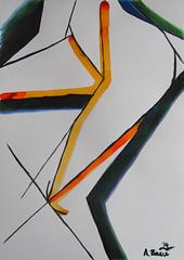 Aleksandar Basic- Torso and Leg ink on heavyweight paper A3