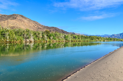Orange river in the  Ai-Ais Richtersveld transfrontier park
